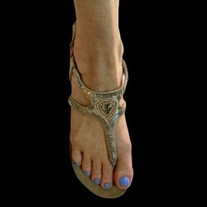 Kenneth Cole reaction lost vegas 2 beaded sandals